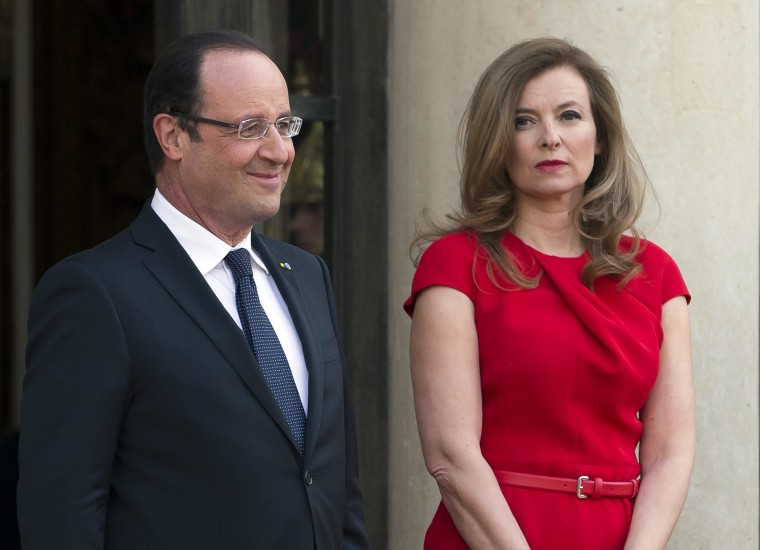 Image: French President Hollande announces split with Trierweiler
