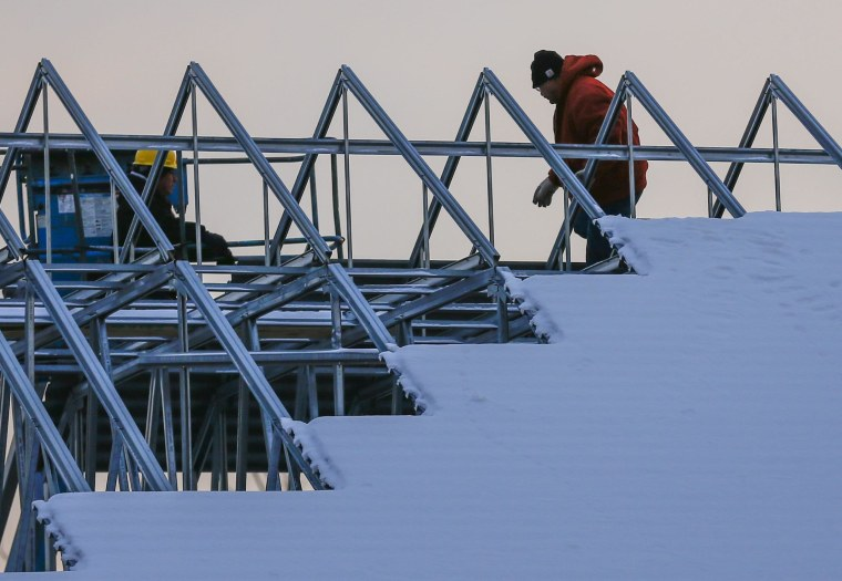 Sales of newly built homes dropped December, but Old Man Winter may have had a hand in the decline.