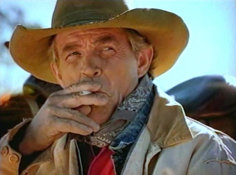 Image: Former Marlboro Man actor Eric Lawson appears in a 1997 anti-smoking ad produced for the American Cancer Society.