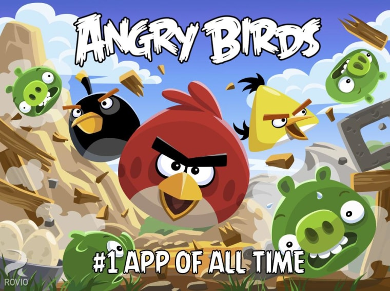 Image: A screen shot of Angry Birds for Android