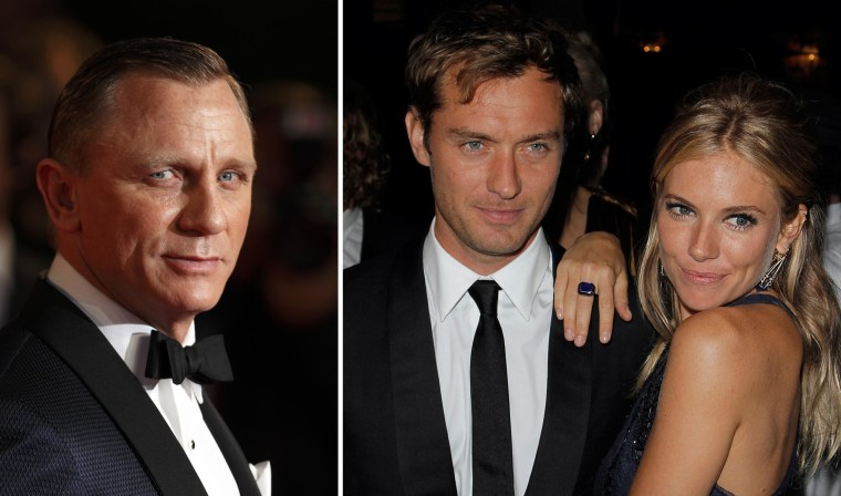 Journalists from the News of the World were looking into the private lives of actors Daniel Craig, left, Jude Law and Sienna Miller, a court heard.