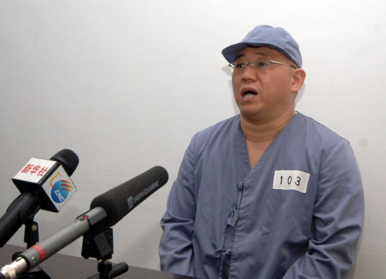 Image: US citizen Kenneth Bae press conference at a hospital