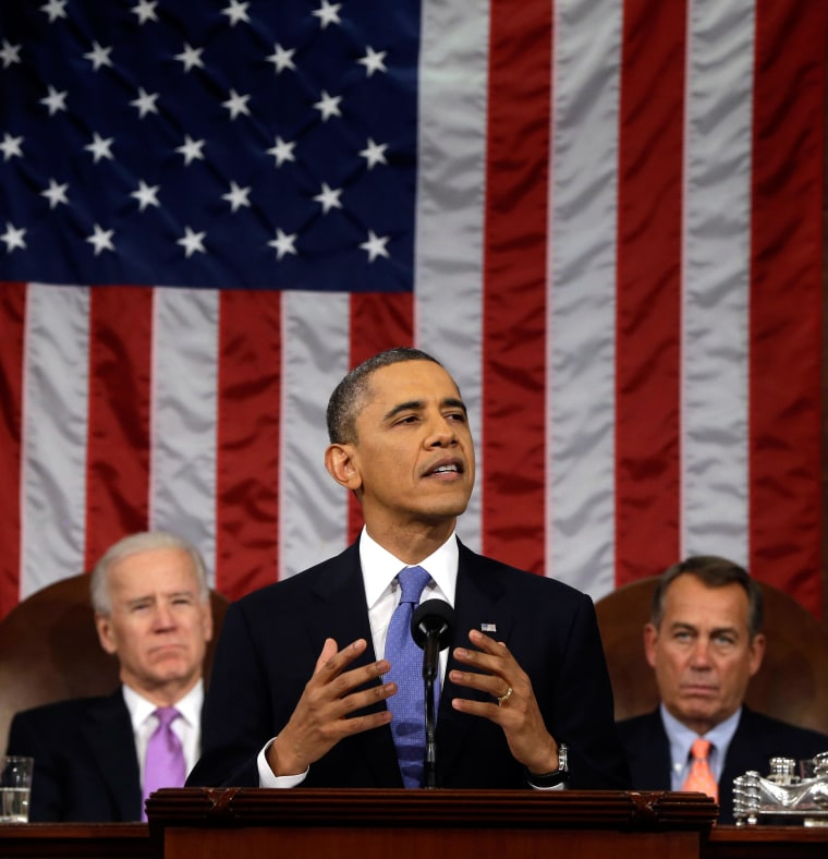 Image: President Barack Obama speaks during the 2013 State of the Union