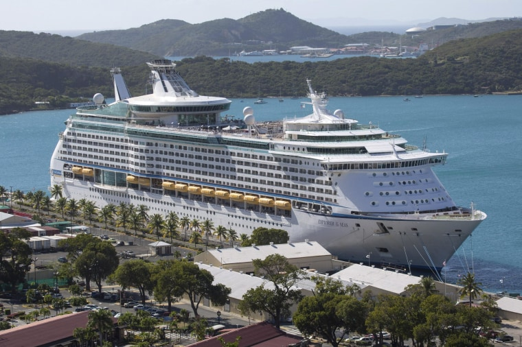The Royal Caribbean International's Explorer of the Seas is due into a New Jersey port today.