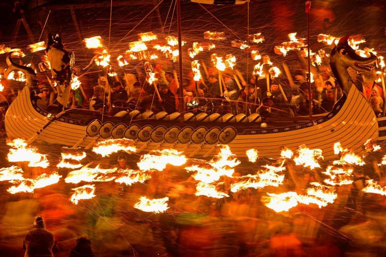 Image: Up Helly Aa Fire Festival On Shetland