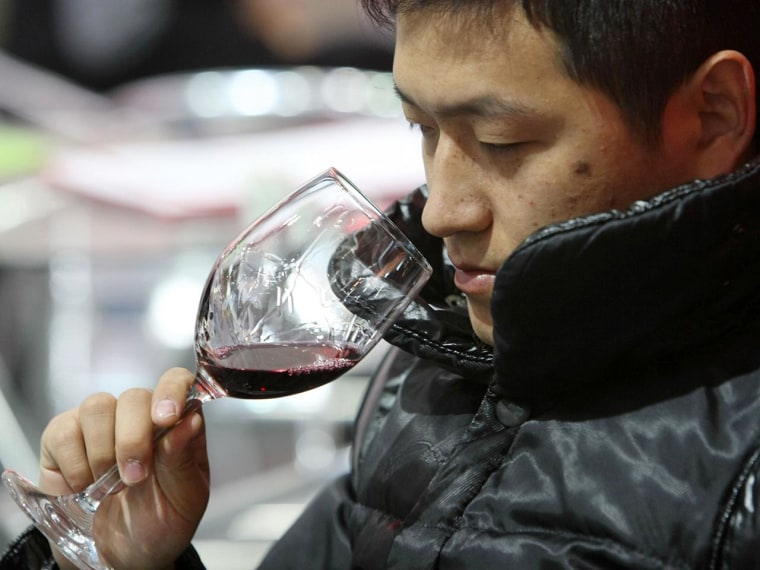 A nose for win in Shanghai. China has passed France and Italy as the world's top consumer of red wine.