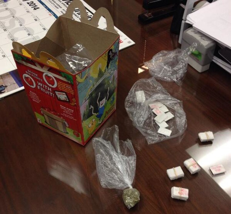 Image: Evidence photo of heroin that police say was sold in a McDonald's Happy Meal