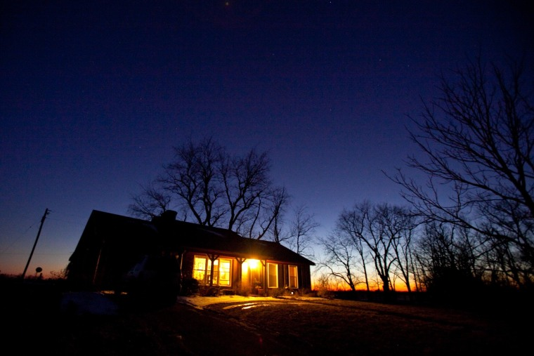 Image: The sun drops along with the temperature at Susie Quick's home in Midway, Ky.
