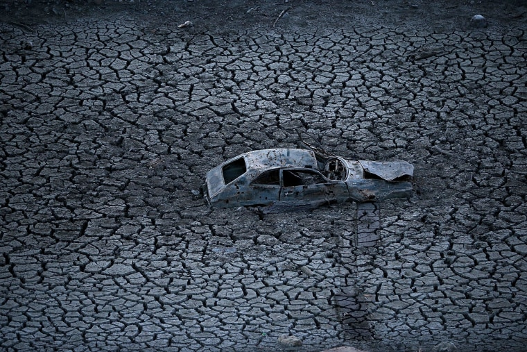 Image: California Drought Dries Up Bay Area Reservoirs