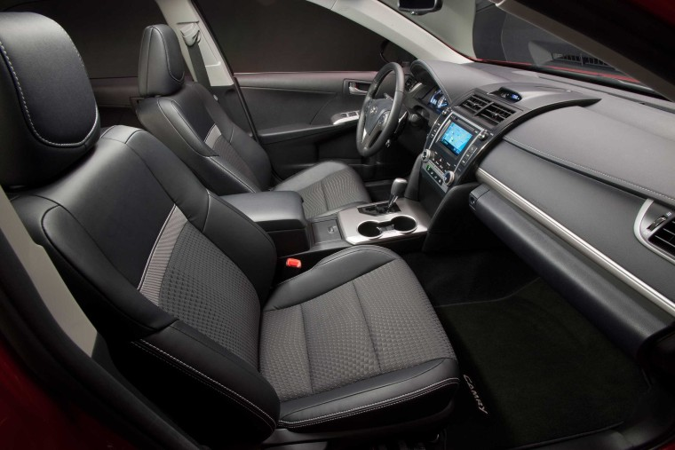 Interior of a 2012-2014 Camry. Toyota is probing a possible hazard with heated seats