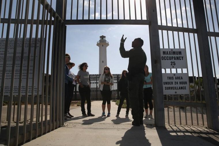 Image: Families Reunite At US-Mexico Border Fence