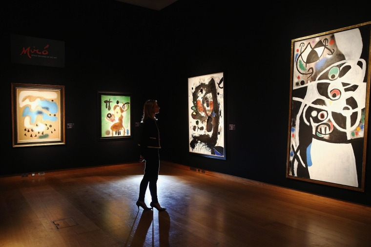 Image: Press Preview For Impressionist, Modern and Surrealist Artworks Auction At Christie's