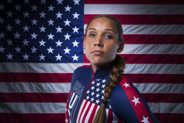 Image: Bobsledder Lolo Jones poses for a portrait during the 2013 U.S. Olympic Team Media Summit in Park City, Utah in this file photo