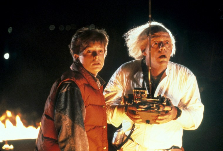 "Michael J. Fox and Christopher Lloyd star in ""Back to the Future,"" a 1985 hit film that will now be made into a stage musical in London."