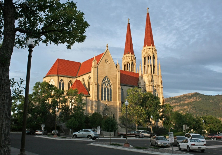 This 2011 file photo provided by Ron Zellar, shows the Cathedral of St. Helena in Helena, Mont. The Roman Catholic Diocese of Helena filed for bankruptcy protection Friday Jan. 31, 2014 in advance of proposed settlements for two lawsuits that claim clergy members sexually abused 362 people over decades and the church covered it up.