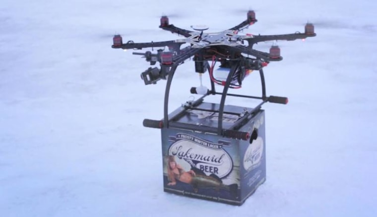 Jeff Bezos isn't the only one promising drone deliveries.