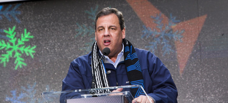 Image: Chris Christie Attends Super Bowl Hand Off Ceremony in Times Square
