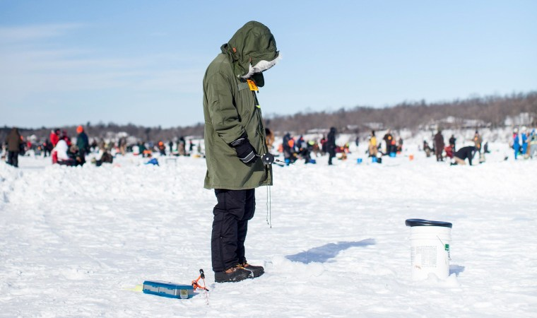 Image: More than 9,500 anglers competed Brainerd Jaycees Ice Fishing Extravaganza in Minnesota.