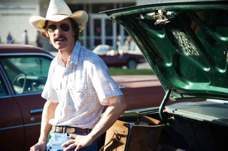 """Image: Matthew McConaughey as Ron Woodroof in a scene from the film, """"Dallas Buyers Club."""""""