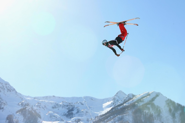 Image: Bobby Brown of the United States trains in Sochi.