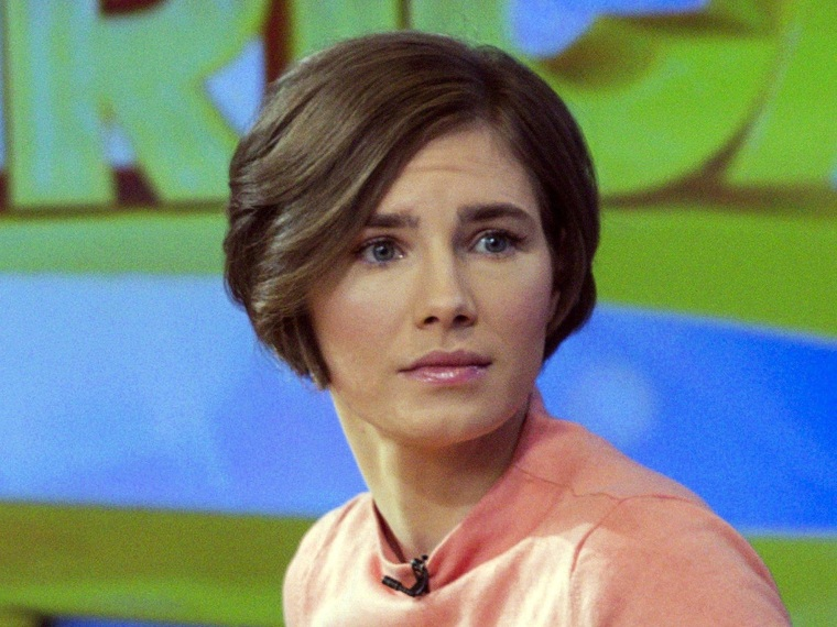 Amanda Knox reacts while being interviewed the morning after she was convicted for the second time.