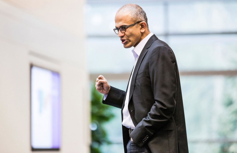 Satya Nadella, executive vice president of Microsoft's Cloud and Enterprise group, is seen in this undated Microsoft handout photograph released on February 4, 2014. Microsoft Corp named Nadella as its next chief executive officer on Tuesday, ending a longer-than-expected search for a new leader after Steve Ballmer announced his intention to retire in August. Nadella is only the third CEO in Microsoft's 39-year history, following co-founder Bill Gates and Ballmer.