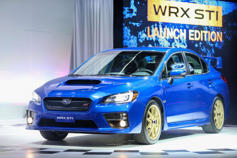 The Subaru WRX STI Launch Edition at the 2014 North American International Auto Show in Detroit. Mazda and Subaru are stealing a lot of thunder from the bigger automakers.