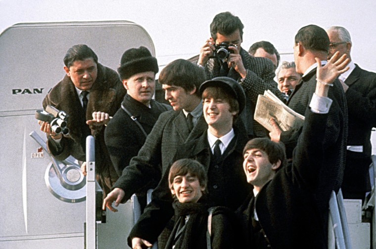 Image: FILE - 50 Years Since The Beatles Released Their First Single In The US The Beatles Are Coming