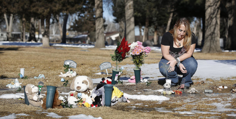 Image: Heather Surovik at Mountain View Cemetery in Longmont, Co.