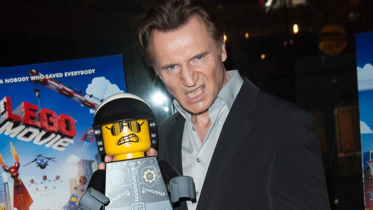 "NEW YORK, NY - FEBRUARY 05:  Liam Neeson  attends ""The LEGO Movie"" screening hosted by Warner Bros. Pictures and Village Roadshow Pictures at AMC Empire 25 theater on February 5, 2014 in New York City.  (Photo by Dave Kotinsky/Getty Images)"