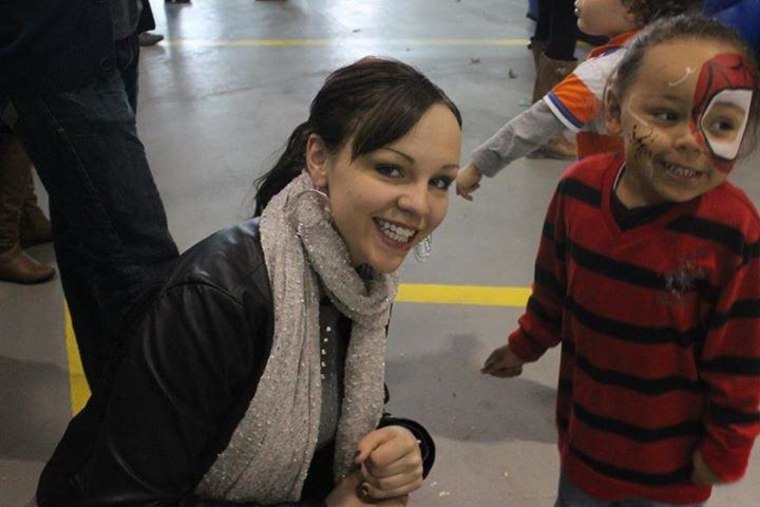 Justine Davis and her son, Cameron, at a Christmas party in Canada weeks before the tragic traffic accident that took his life in Cuba.