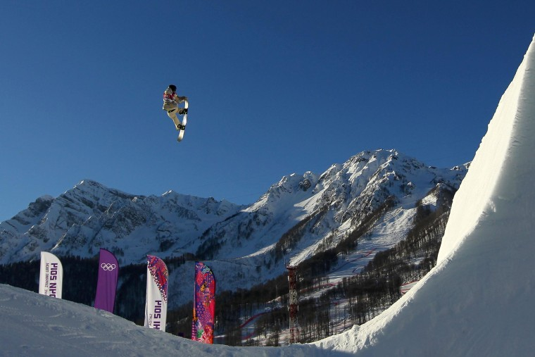 Image: Sage Kotsenburg competes in the Men's Snowboard Slopestyle Final