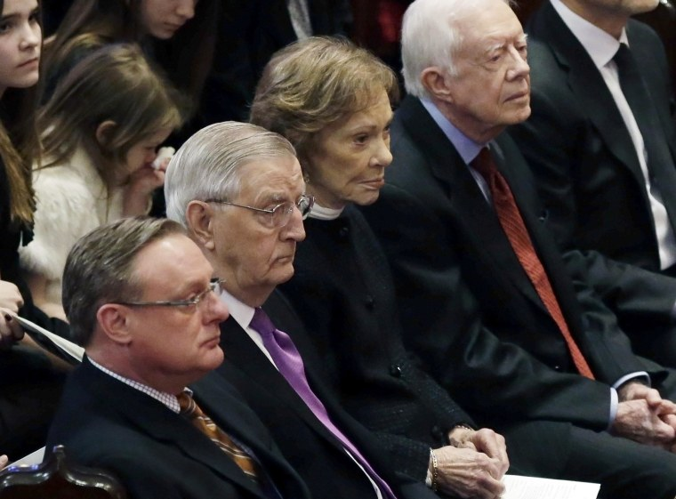 Image: Walter Mondale, Ted Mondale, Rosalynn Carterm Jimmy Carter