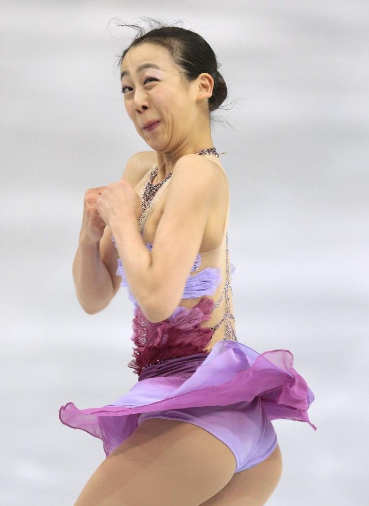 Image: Mao Asada of Japan competes in the women's team short program figure skating