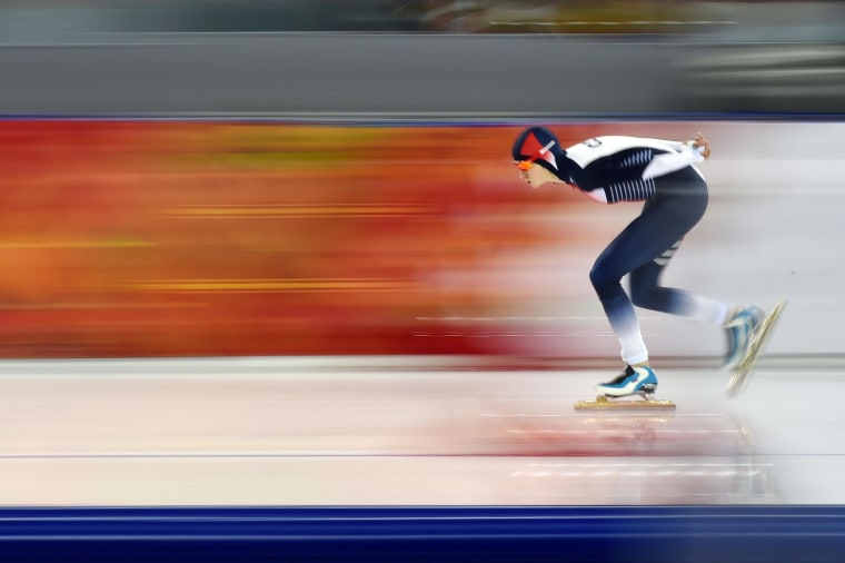 Image: Czech Republic's Martina Sablikova competes in the Women's Speed Skating 3000m at the Adler Arena during the Sochi Winter Olympics