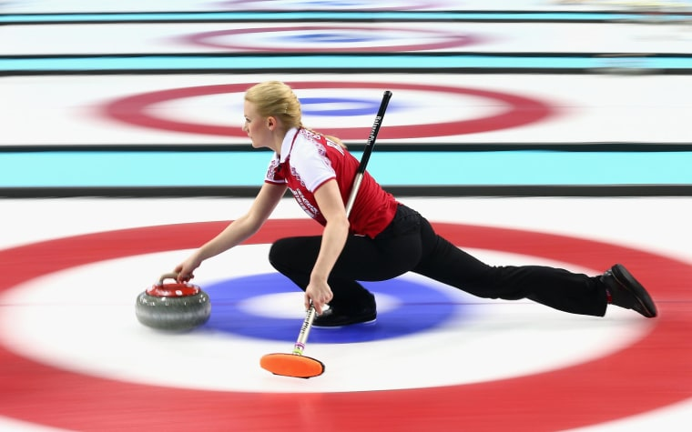 Image: Curling - Winter Olympics Day 3