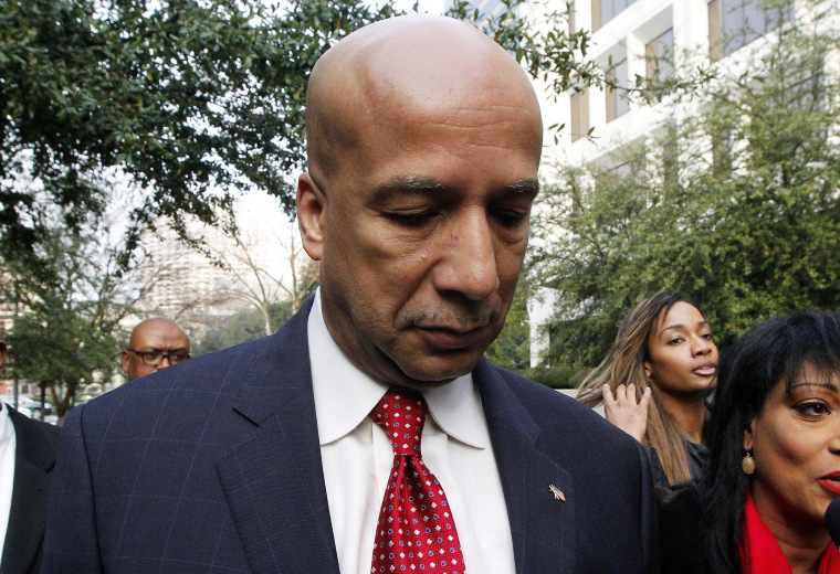 Former New Orleans Mayor Ray Nagin arrives at the Hale Boggs Federal Building in New Orleans, Monday, Jan. 27, 2014.