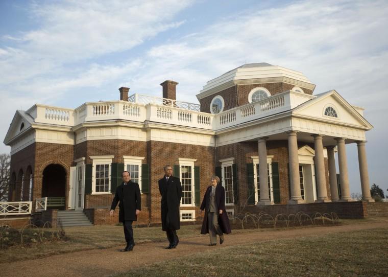 Image: Barack Obama, Francois Hollande, Leslie Bowman
