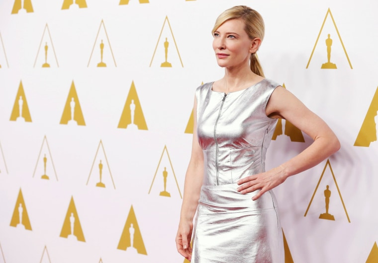 Best actress in a leading role Cate Blanchett arrives at the 86th Academy Awards nominees luncheon in Beverly Hills, California February 10, 2014. REUTERS/Mario Anzuoni (UNITED STATES - Tags: ENTERTAINMENT)