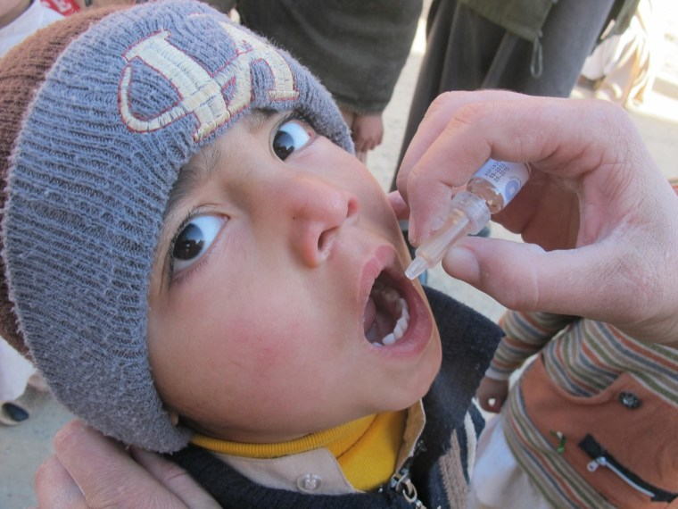 Image: polio case in kabul