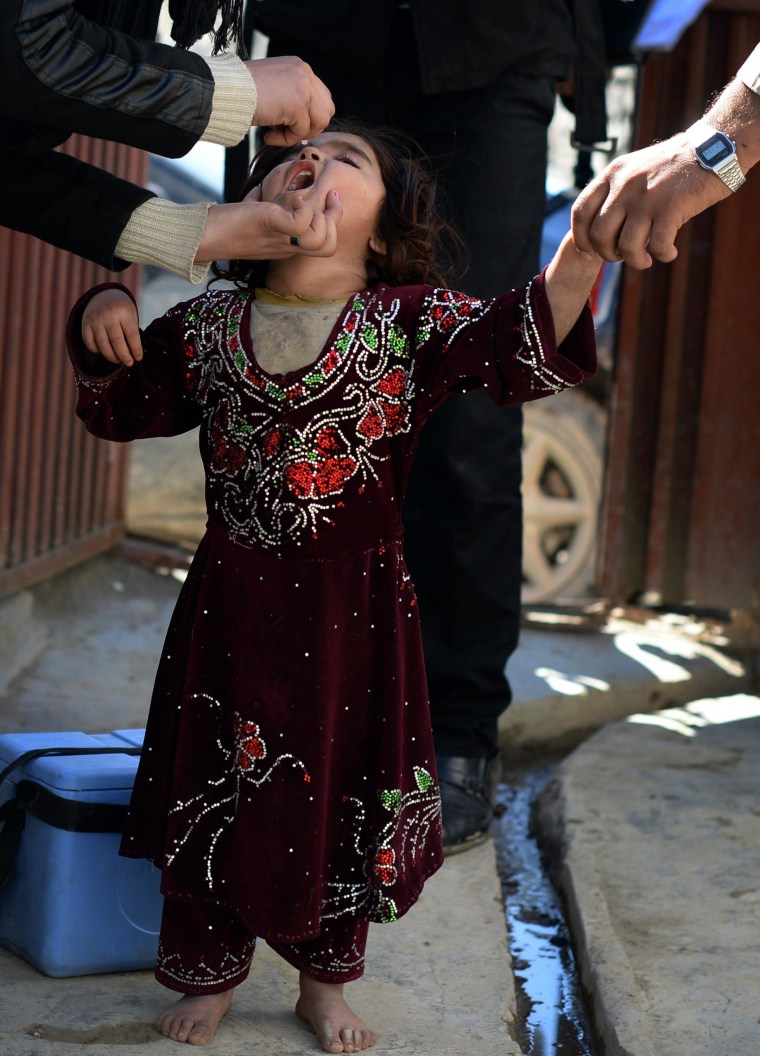 Image: AFGHANISTAN-POLIO-VACCINATION