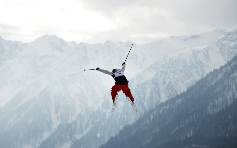 Image: Devin Logan of the United States takes a jump while competing at the Sochi 2014 Winter Olympics
