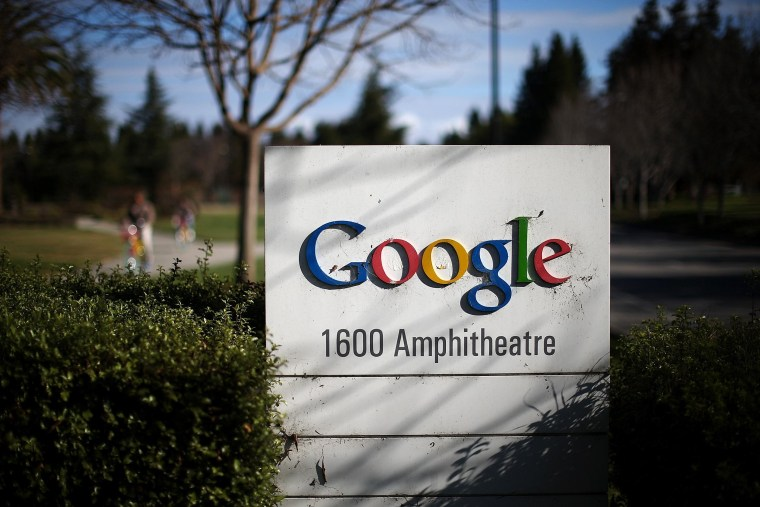 Image: Sign outside of Google headquarters