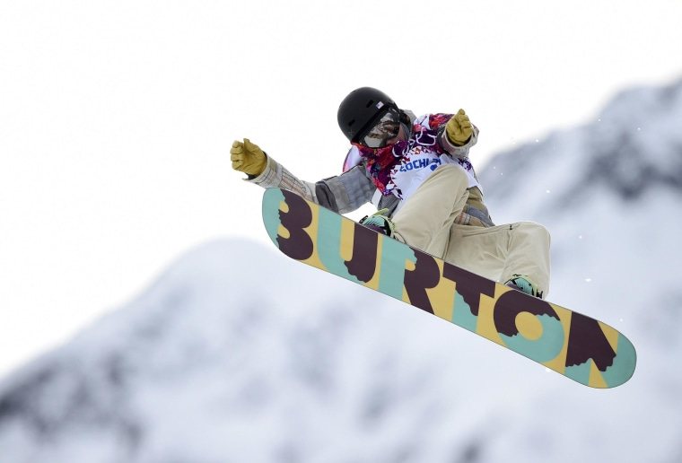 Kelly Clark of the U.S. performs a jump during the Women's Snowboard Halfpipe Qualification at the 2014 Sochi Winter Olympic Games on Feb. 12.