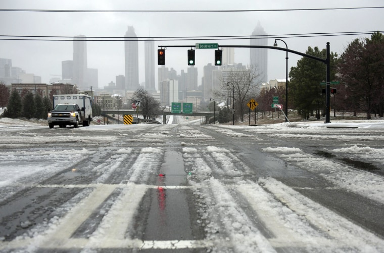 Image: Another Winter Storm Affects Atlanta Area
