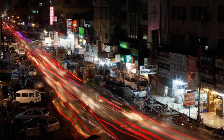 A busy street in Karachi June 29, 2013.