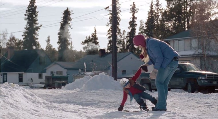"""A screengrab from the """"Pick Them Back Up"""" ad, part of P&G's """"Thank you, Mom,"""" campaign that aired during the 2014 Winter Olympics."""