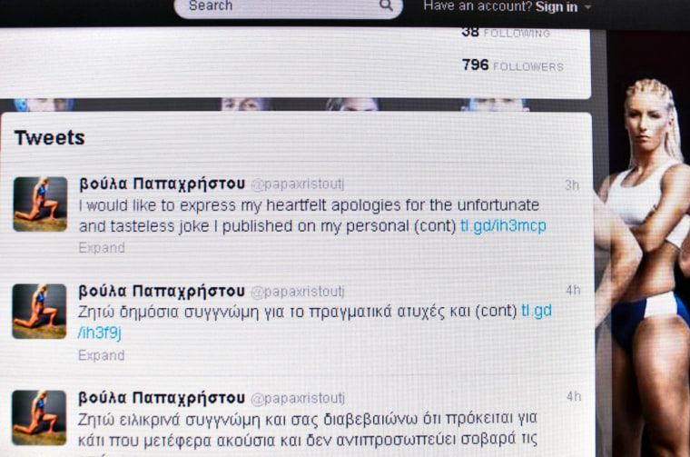 Image: Triple jumper Voula Papachristou apologizes for a racist tweet