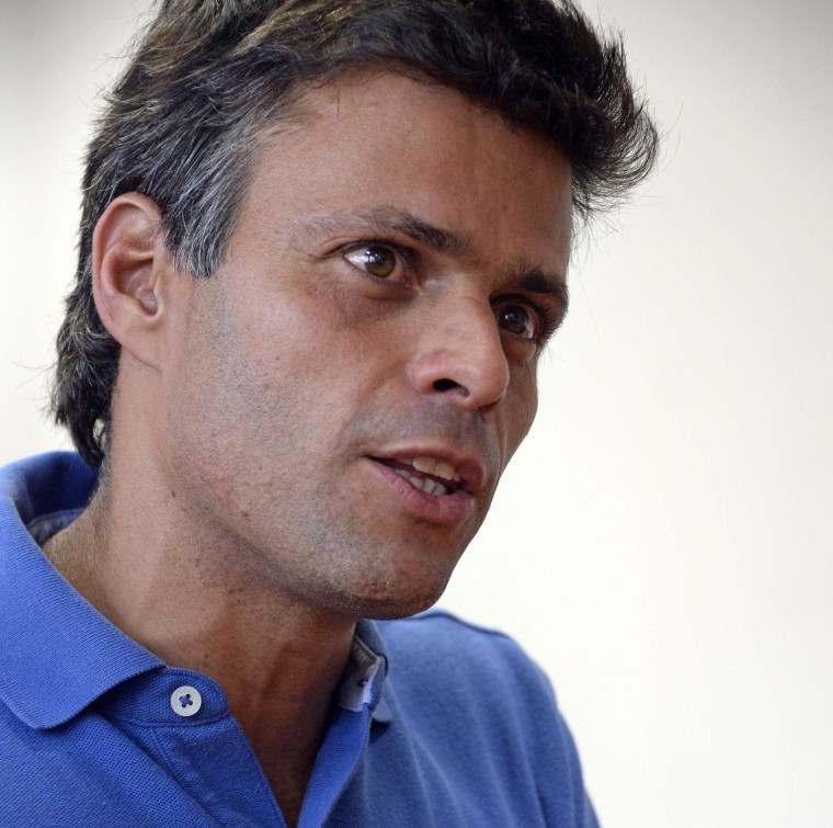 Image: VENEZUELA-POLITICS-OPPOSITION-LOPEZ