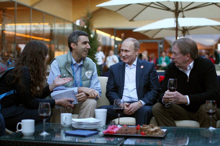 Image: President Vladimir Putin Visits USA House